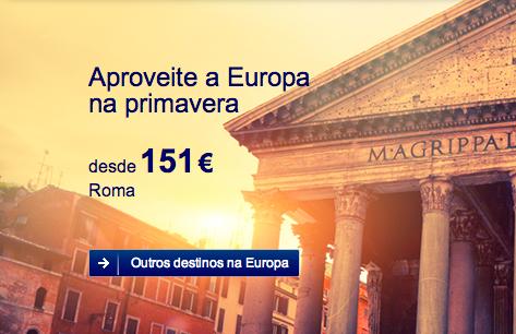 Promoções de passagens aéreas para cidades europeias