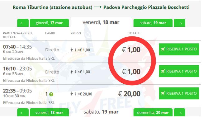 Viagens de autocarro a 1 euro